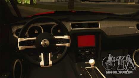 Ford Shelby GT500 2013 para GTA San Andreas vista interior