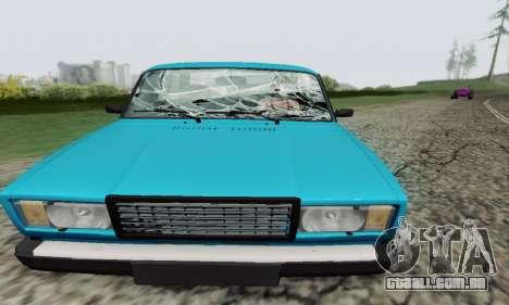 VAZ 2107 Coupe para vista lateral GTA San Andreas