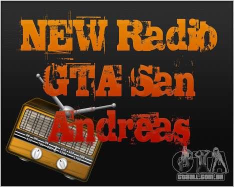 Novo rádio para GTA San Andreas
