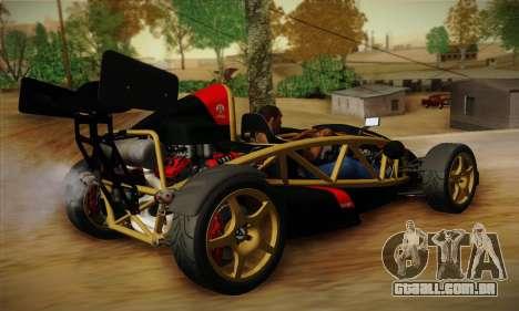 Ariel Atom 500 2012 V8 para GTA San Andreas traseira esquerda vista