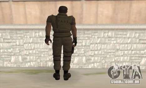 Chris Redfield v2 para GTA San Andreas segunda tela