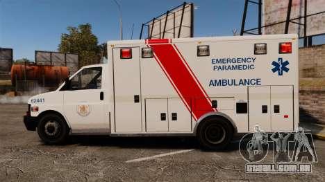 Brute B.C. Ambulance Service [ELS] para GTA 4 esquerda vista