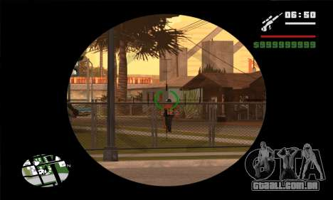 GTA V Sniper Scope para GTA San Andreas terceira tela