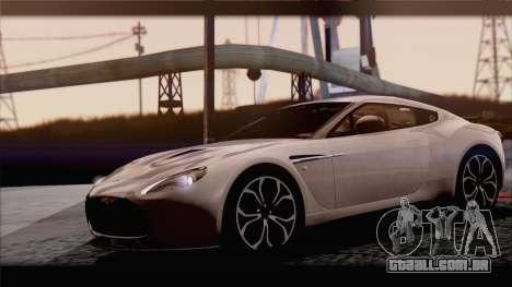 Aston Martin V12 Zagato 2012 [IVF] para GTA San Andreas vista traseira