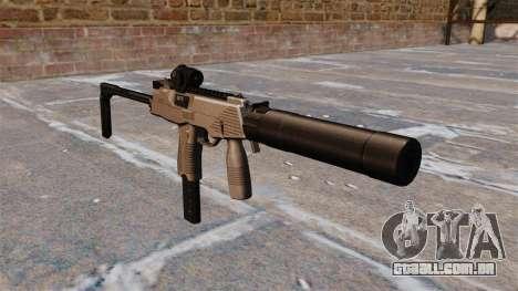 Pistola-metralhadora MP9 tática para GTA 4