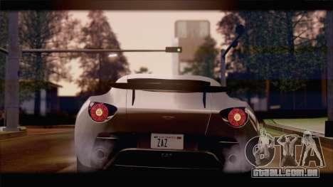 Aston Martin V12 Zagato 2012 [IVF] para GTA San Andreas esquerda vista