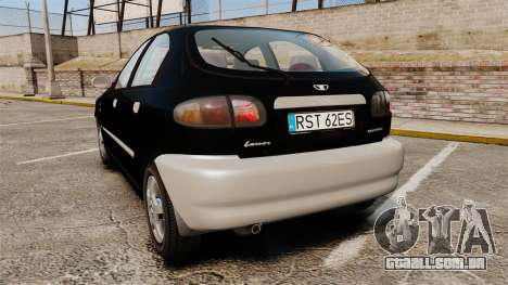 Daewoo Lanos Style 2001 Limited version para GTA 4 traseira esquerda vista
