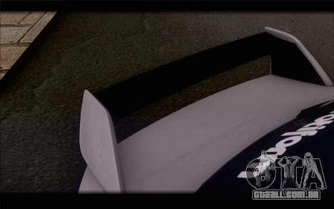 Mitsubishi Lancer Evolution Stance para GTA San Andreas vista traseira