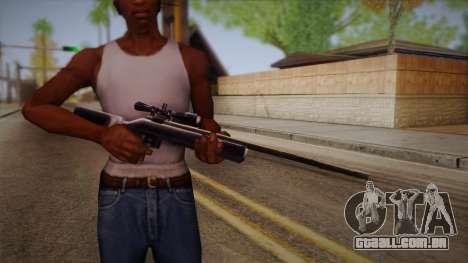 Rifle sniper de Max Payn para GTA San Andreas terceira tela