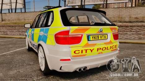 BMW X5 Police [ELS] para GTA 4 traseira esquerda vista