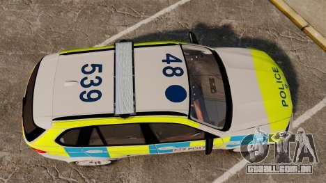 BMW X5 City Of London Police [ELS] para GTA 4 vista direita