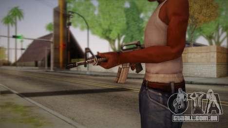 M4 de Max Payne para GTA San Andreas segunda tela