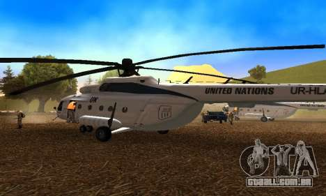 MI 8 das Nações Unidas (ONU) para GTA San Andreas vista direita