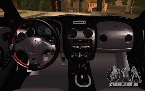 Mitsubishi Eclipse para GTA San Andreas vista direita