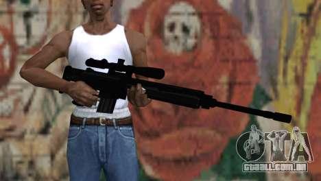 Snajperckaâ rifle preto para GTA San Andreas terceira tela