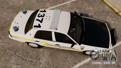 Ford Crown Victoria 2011 LCSHP [ELS] para GTA 4 vista direita