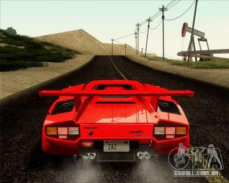 Lamborghini Countach LP500 Quattrovalvole 1988 para GTA San Andreas vista traseira
