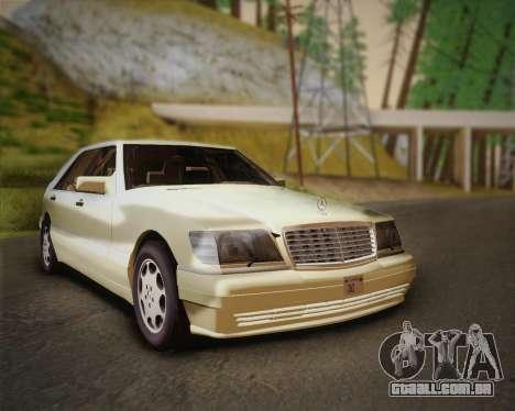 Mercedes-Benz S600 V12 Custom para GTA San Andreas traseira esquerda vista