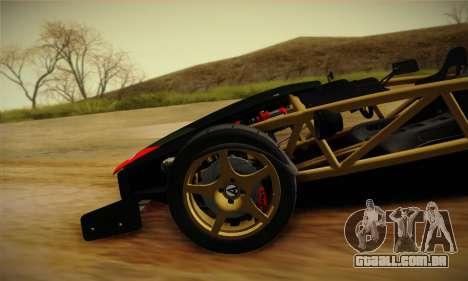 Ariel Atom 500 2012 V8 para GTA San Andreas vista superior