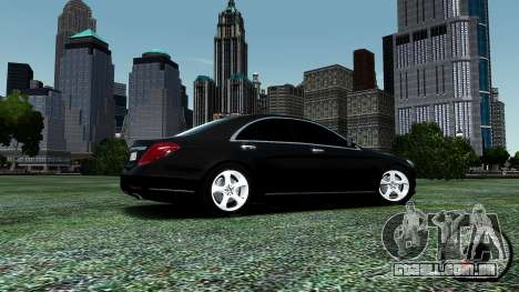 Mercedes-Benz S-Class W222 2014 para GTA 4 vista inferior