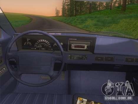 Oldsmobile Cutlass Ciera Cruiser para GTA San Andreas vista direita