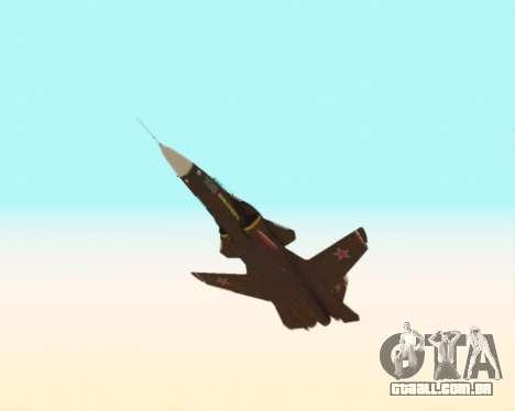 Su-47 Berkut v 1.0 para vista lateral GTA San Andreas