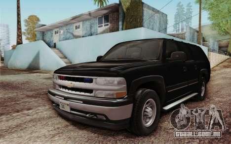 Chevrolet Suburban FBI para GTA San Andreas esquerda vista
