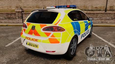 Seat Cupra Metropolitan Police [ELS] para GTA 4 traseira esquerda vista