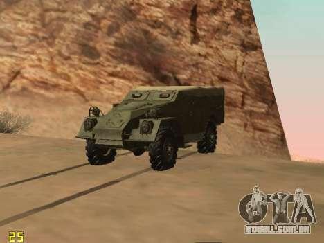 BTR-40 para GTA San Andreas traseira esquerda vista