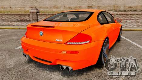BMW M6 para GTA 4 traseira esquerda vista