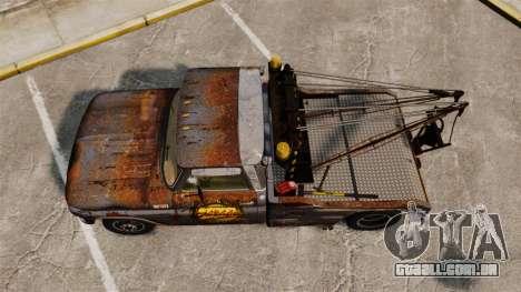 Chevrolet Tow truck rusty Stock para GTA 4 vista direita