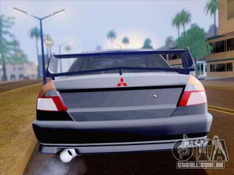 Mitsubishi Lancer Evolution VI LE para vista lateral GTA San Andreas