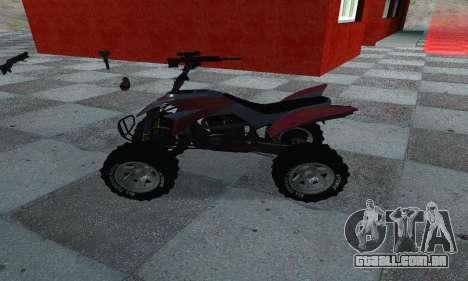 GTA 5 Blazer ATV para GTA San Andreas esquerda vista
