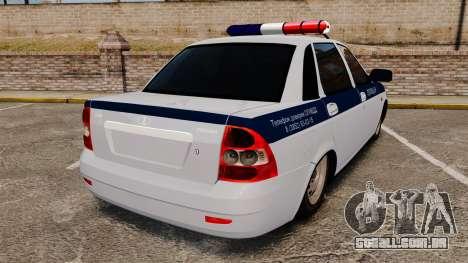 VAZ-2170 Lada Priora DPS para GTA 4 traseira esquerda vista