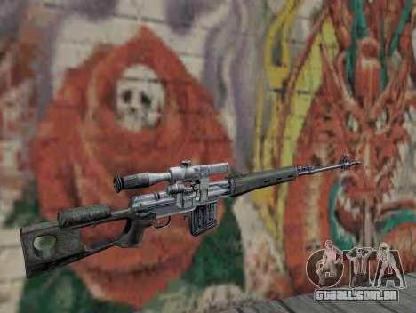 Rifle sniper de STALKER para GTA San Andreas segunda tela