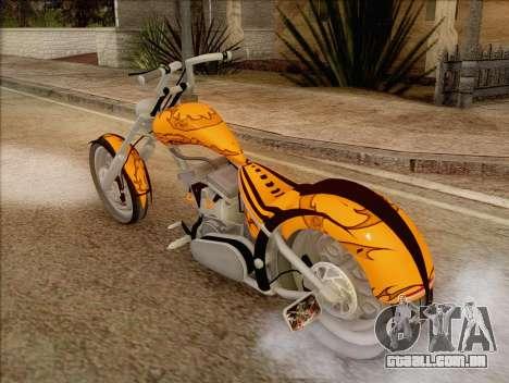 Sons Of Anarchy Chopper Motorcycle para GTA San Andreas esquerda vista