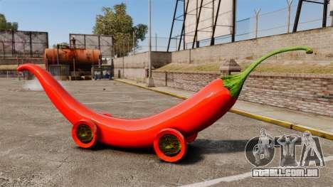 Carro-pimenta - para GTA 4 esquerda vista