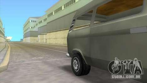 Volkswagen Transporter T3 para GTA Vice City vista traseira esquerda