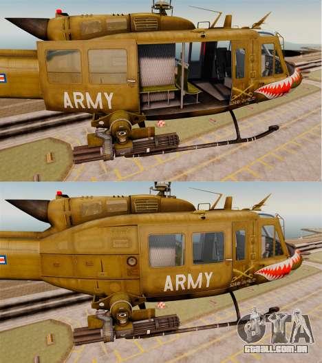 Bell UH-1 Iroquois v2.0 Gunship [EPM] para GTA 4 vista inferior