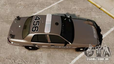 Ford Crown Victoria 2008 Sheriff Traffic [ELS] para GTA 4 vista direita