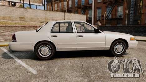 Ford Crown Victoria 1998 v1.1 para GTA 4 esquerda vista