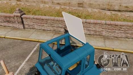 Trator MTZ-80 para GTA 4 vista de volta
