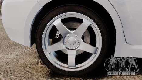 Subaru Impreza 2010 para GTA 4 vista de volta
