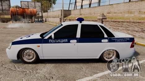 VAZ-2170 Lada Priora DPS para GTA 4 esquerda vista