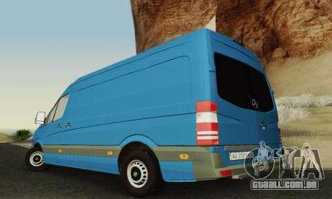 Mersedes-Benz Sprinter para GTA San Andreas vista superior