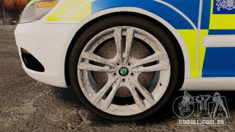 Skoda Octavia RS Metropolitan Police [ELS] para GTA 4 vista de volta