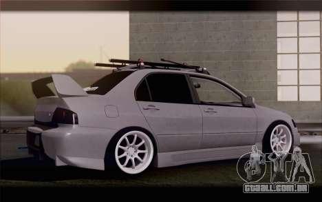 Mitsubishi Lancer Evolution Stance para GTA San Andreas esquerda vista