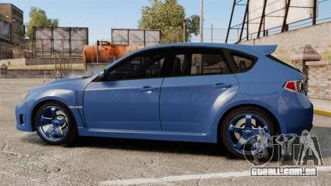 Subaru Impreza 2010 para GTA 4 esquerda vista