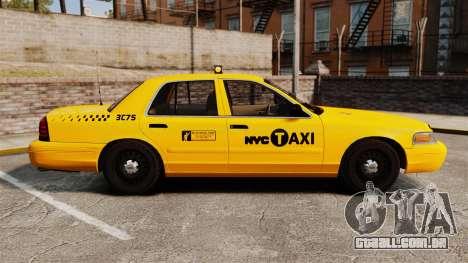 Ford Crown Victoria 1999 NYC Taxi para GTA 4 esquerda vista