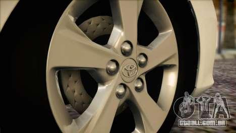 Toyota Corolla 2012 para GTA San Andreas vista traseira